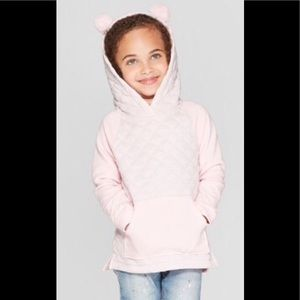 Cat &Jack Quilted Hoodie Pullover Pink 3T $17